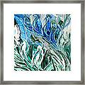 Abstract Floral Sky Reflection Framed Print