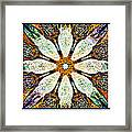 Abstract Flower Triptych Framed Print