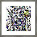 Abstract Flowers A  Framed Print