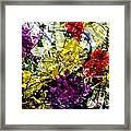 Abstract Flowers Messy Painting Framed Print