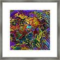 Abstract Fronds In Jewel Tones - Square Framed Print