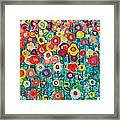 Abstract Garden Of Happiness Framed Print
