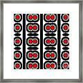 Pattern Black White Red Art No. 379. Framed Print by Drinka Mercep