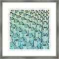 Abstract Green Glass Bottles Framed Print
