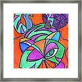 Abstract Kitty Galore Framed Print