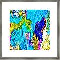 Abstract Melting Planet Framed Print