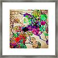 Abstract Mixed Media Framed Print