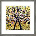 Abstract Modern Flowers Garden Art ... Flowering Tree Framed Print