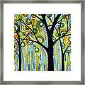 Abstract Modern Tree Landscape Spring Rain By Amy Giacomelli Framed Print