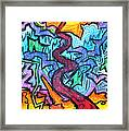 Abstract Paths Framed Print