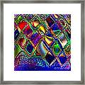 Abstract Patterns And Shapes Framed Print by Doris Wood