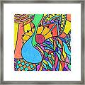 Abstract Peacock Framed Print by Carol Hamby