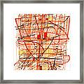 Abstract Pen Drawing Sixty-one Framed Print