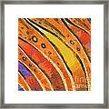 Abstract Rainbow Tiger Stripes Framed Print by Pixel Chimp