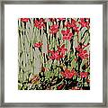 Abstract Red Flowers Framed Print