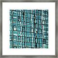 Abstract Reflections In Windows Framed Print