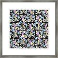 Abstract Shapes Collage Framed Print