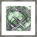 Abstract Spherical Design Framed Print