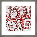 Abstract - Spirals - Peppermint Dreams Framed Print