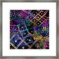Abstract Squares Pattern Fractal Flame Framed Print by Keith Webber Jr