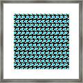 Abstract Waves On A Black Background Framed Print