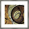 Abstract Wood Grain Framed Print