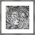 Abstraction B-w 0516 Marucii Framed Print