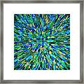 Abstrract Cubes Blue Framed Print