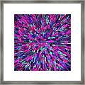 Abstrract Cubes Violet Framed Print