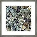 Acanthus Leaf Design Framed Print by William Morris