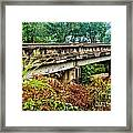 Across The Old Bridge Framed Print