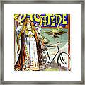 Ad Bicycles, 1898 Framed Print