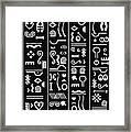Adinkraglyphics Framed Print