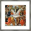 Adoration Of The Trinity  Framed Print