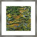 Aerial Of A Wetland, Over Northern Framed Print