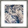 Aerial View Of The Mountains Framed Print