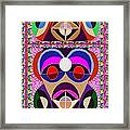 African Art Style Mascot Wizard Magic Comedy Comic Humor  Navinjoshi Rights Managed Images Clawn    Framed Print by Navin Joshi