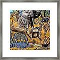African Collage Framed Print by Cynthie Fisher