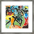 African Dancers No. 3 Framed Print