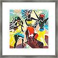 African Dancers No. 4 Framed Print