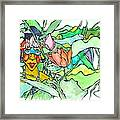 African Lady In Leaves Framed Print