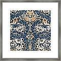 African Marigold Design Framed Print by William Morris