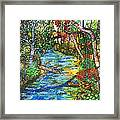 Afternoon At The Creek Framed Print
