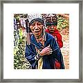 Akha Tribe II Paint Filter Framed Print