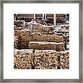 Akrotiri Archaeological Site In Santorini Framed Print