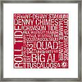 Alabama College Colors Subway Art Framed Print by Replay Photos
