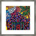 Alamo Mosaic Framed Print