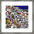 alba a Santorini Framed Print