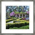 Alcazar Garden Vibrant Color Display Balboa Park Framed Print