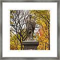 Alexander Hamilton Statue Framed Print by Joann Vitali